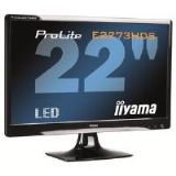 Iiyama ProLite E2273HDS 21.5 inch LED Backlit LCD Monitor 1000:1 250cd/m2 1920x1080 2ms D-Sub/DVI-D/